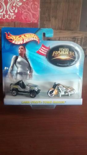 hot wheels, tom raider, lara croft.