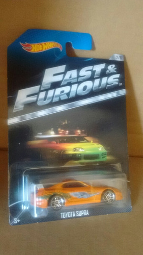 hot wheels toyota supra fast and furious  2/8