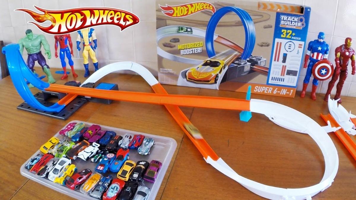 983c292318613 hot wheels track builder paquete de pista de carrera super 6. Cargando zoom.
