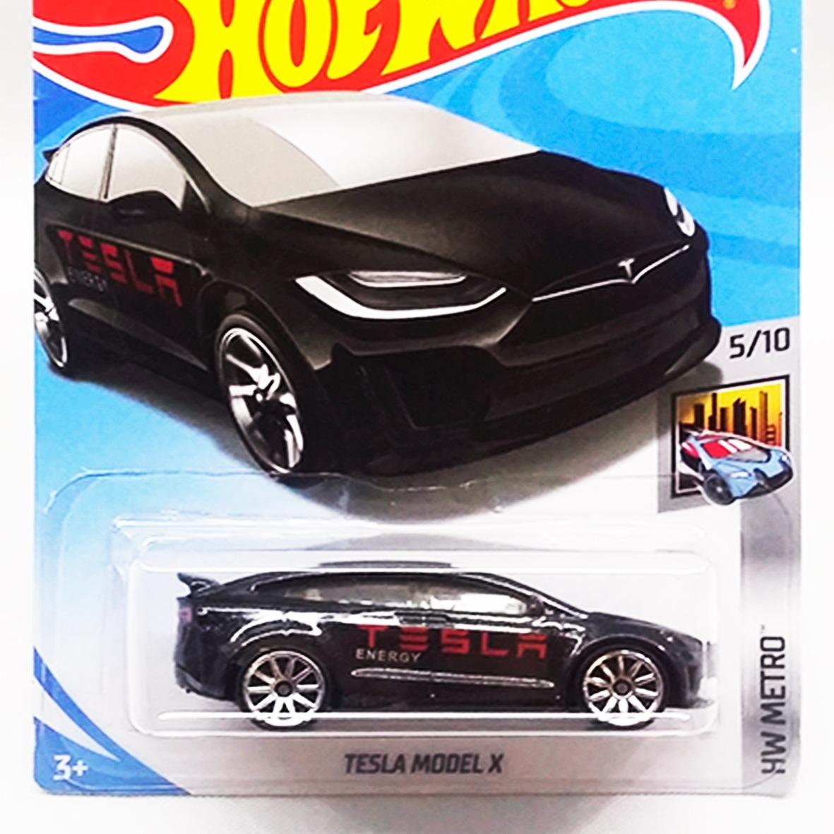 Tarjeta de Tesla modelo X hot wheels Metro