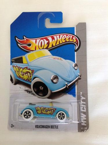 hot wheels volkswagen beetle (azul 40/250)