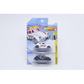 Hot Wheels Volkswagen Fusca Beetle 2 Minis Preto E Branco