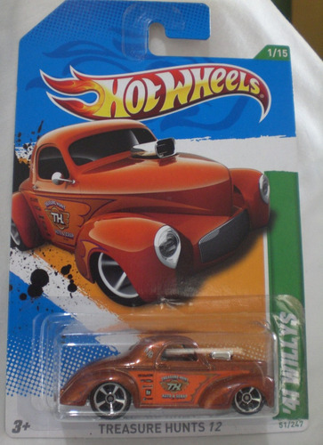 hot wheels willys 41 clasico treasure hunts 12