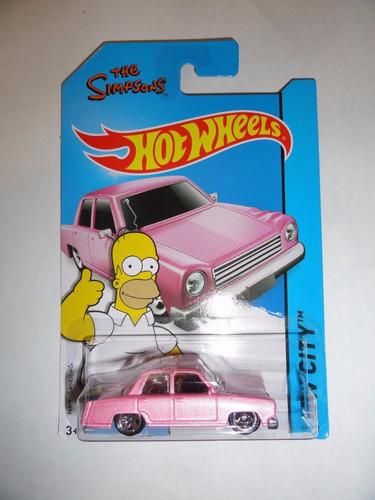 hot wheels:basicos homero rosa
