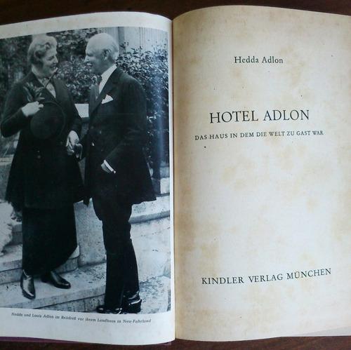 hotel adlon. hedda adlon (en alemán)