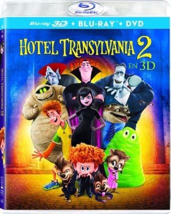 hotel transylvania 2 dos pelicula bd 3d + blu-ray + dvd