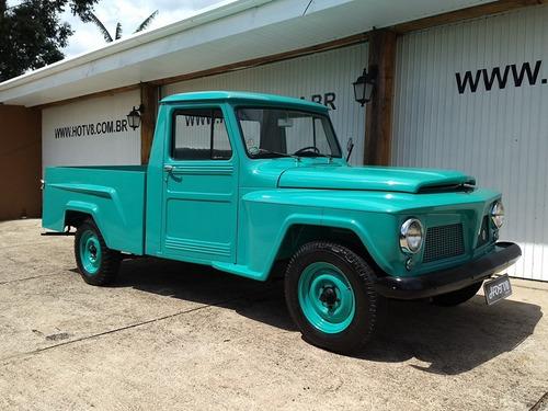 hotv8 vende willys pick-up jeep f-75 1962 placa preta