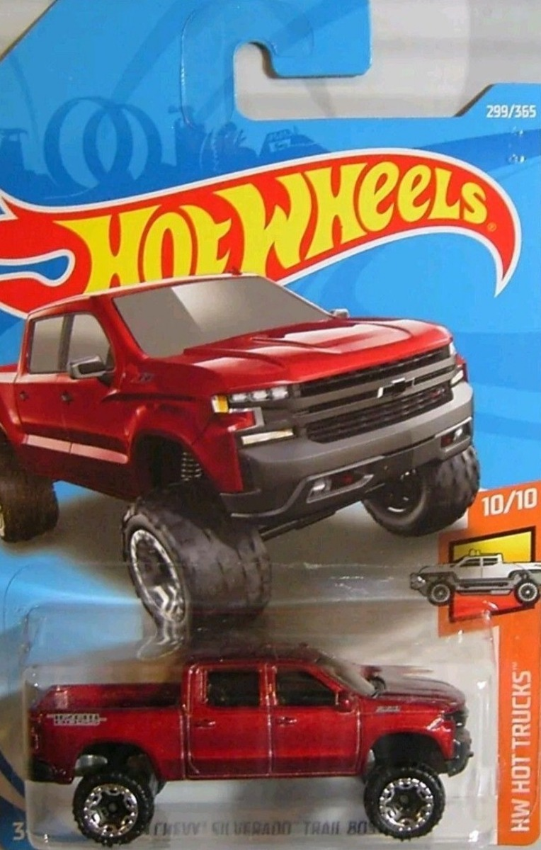 Hotwheels '19 Chevy Silverado Trail Boss Lt #299 2018 ...