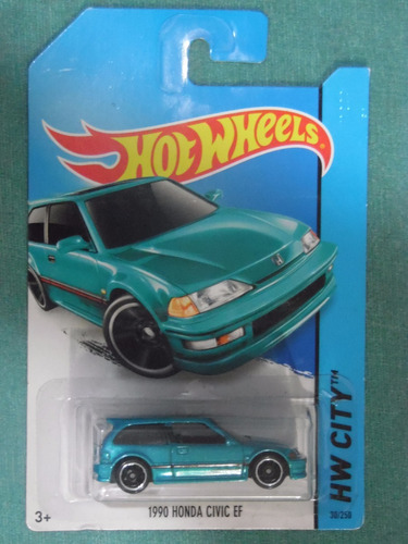 Hot wheels 1990 Honda Civic Ef Black Hw City