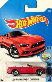 2017 Hot Wheels FACTORY FRESH #104 /'15 Ford Mustang GT Convertible Blue
