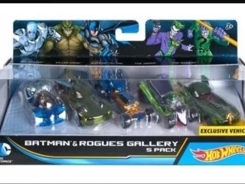 hotwheels batman set de 5 carros de colección
