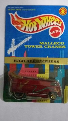 hotwheels drag bus malleco tower cranes