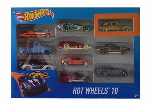 hotwheels pack de 10 autos