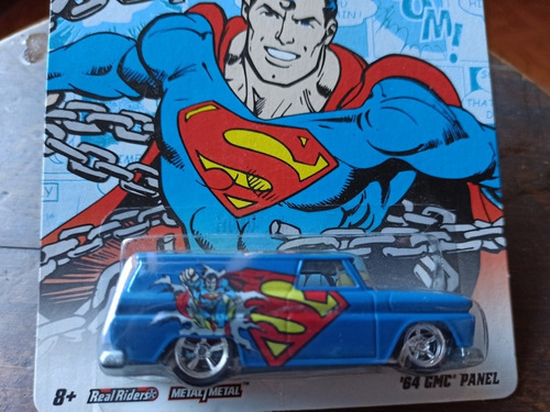 hotwheels panel gmc 64 super man. caucho goma