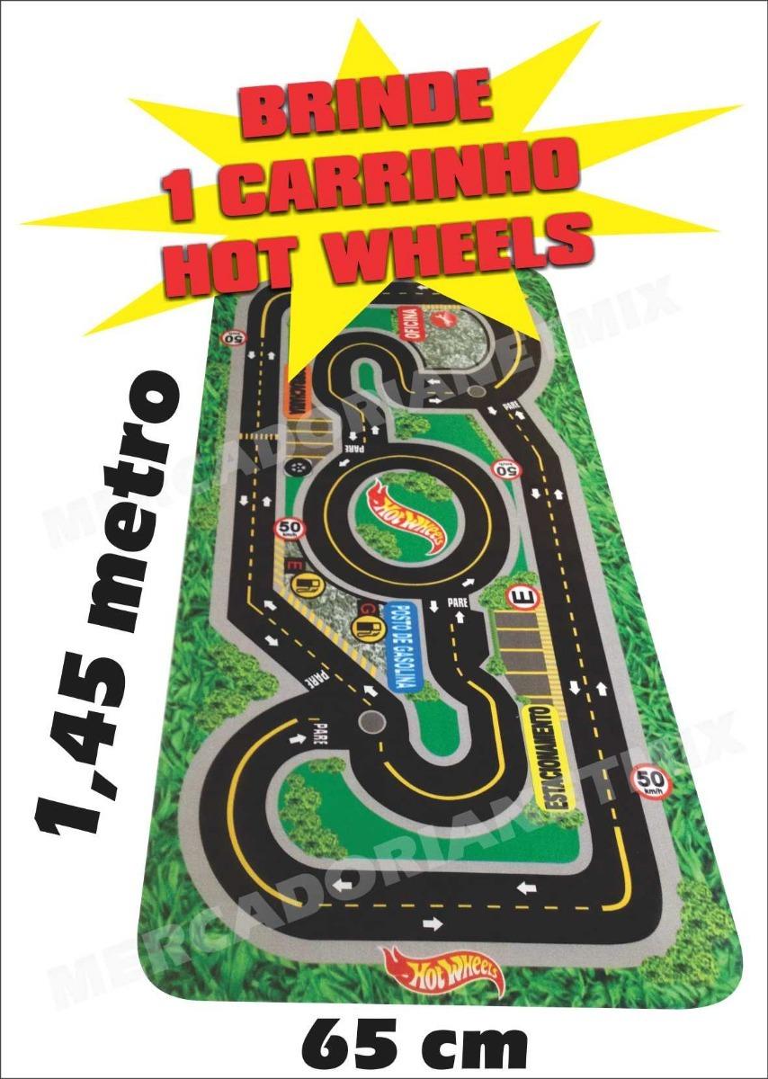 3ffe9d6188 hotwheels pista corrida tapete lona infantil grátis carrinho. Carregando  zoom.