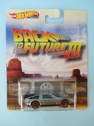 hotwheels premium back to the future 3 1955 delorean