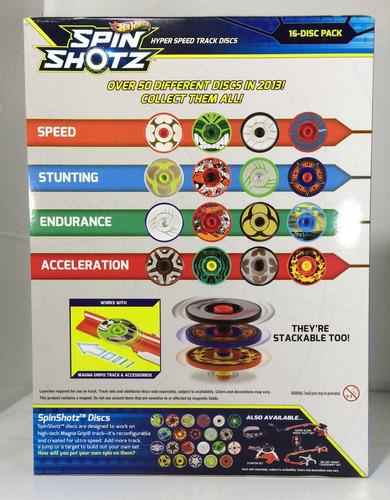 hotwheels spin shotz paquete con 16 discos