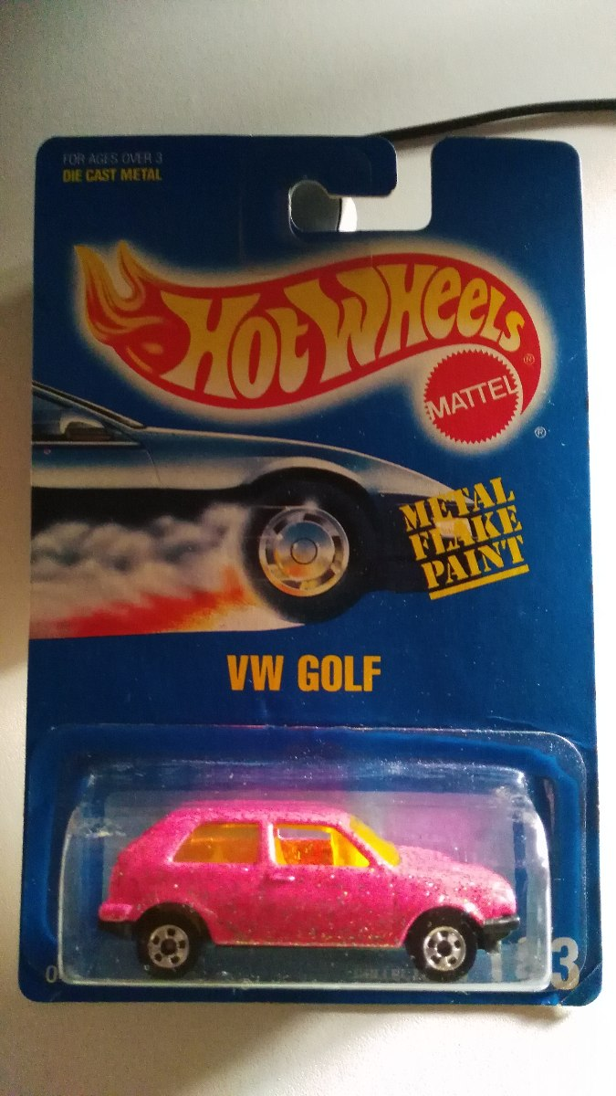 hotwheels vw golf a2 rosa glitter a o 1991 nueva impecable. Black Bedroom Furniture Sets. Home Design Ideas