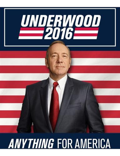 house of cards kit de campaña presidencial afiche underwood