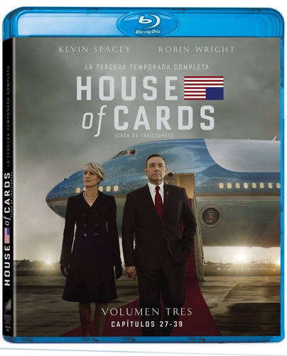 house of cards tercera temporada 3 tres blu-ray
