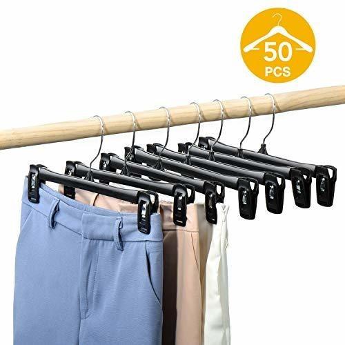 household mall 10  black pinch grip percha de ropa con clip