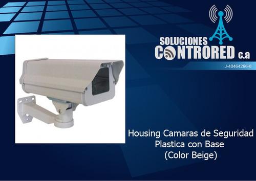 housing camaras de seguridad plastica con base
