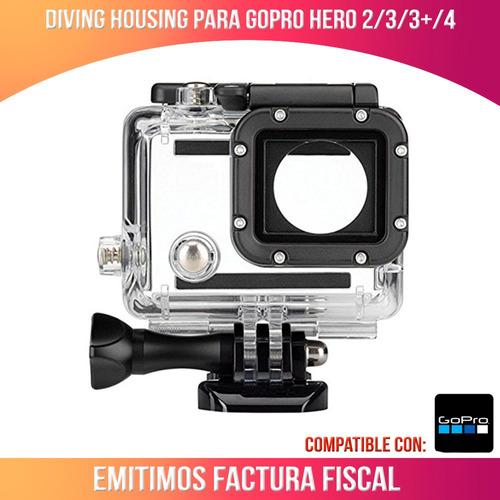 housing / carcasa sumergible para gopro hero 3/ 3+ / 4