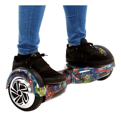 hoverboard skate elétrico 6,5  avengers  samsung e bluet