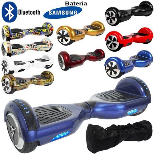 hoverboard skate elétrico led bluetooth bat samsung original