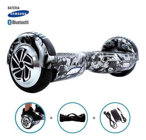 hoverboard x skate elétrico roda 6,5  homem-aranha samsung