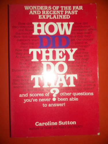how did they do that? caroline sutton - inglés