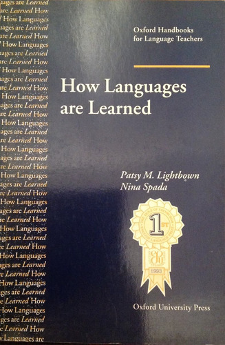 how languages are learned patsy m lightbown nina spada
