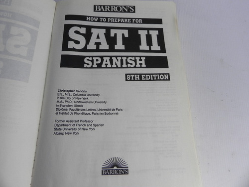 how to prepare for sat 2 spanish 1999
