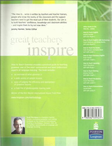 how to teach grammar by scott thornbury nuevo oferta envíos