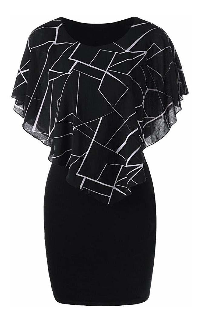 Howstar Womens Ruffles Mini Vestido Casual Tallas Grandes De 129 000 En Mercado Libre