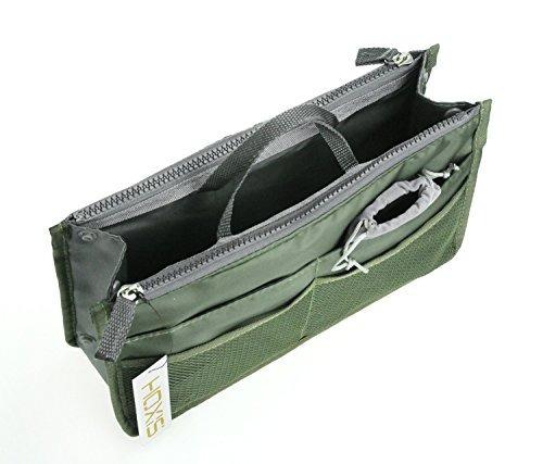 hoxis multifuncion slim baginbag purse organizer pack de 2