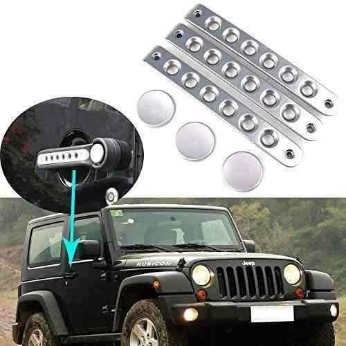 hozan - kit de acento para mango de puerta para jeep wrangle
