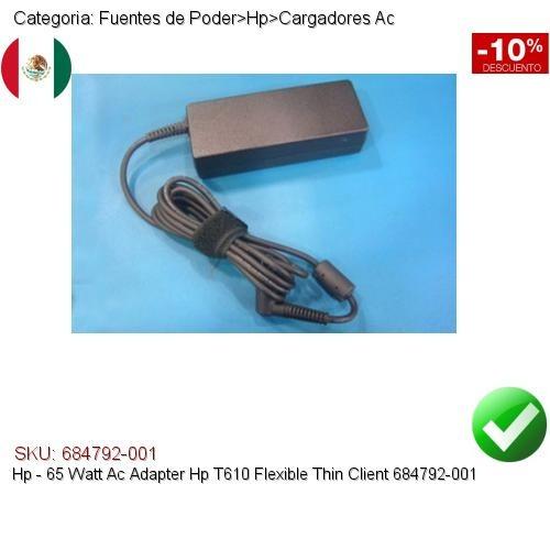 Hp 65w Cargador Ac T610 Flexible Thin Client 684792-001
