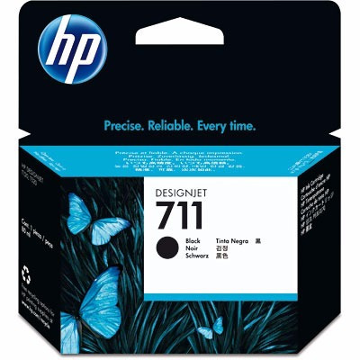 hp 711 preto cz133a plotter t120 t520 ploter cartucho 80ml