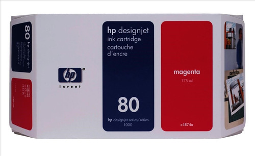 hp 80 inkjet cartridge 175ml magenta - c4874a