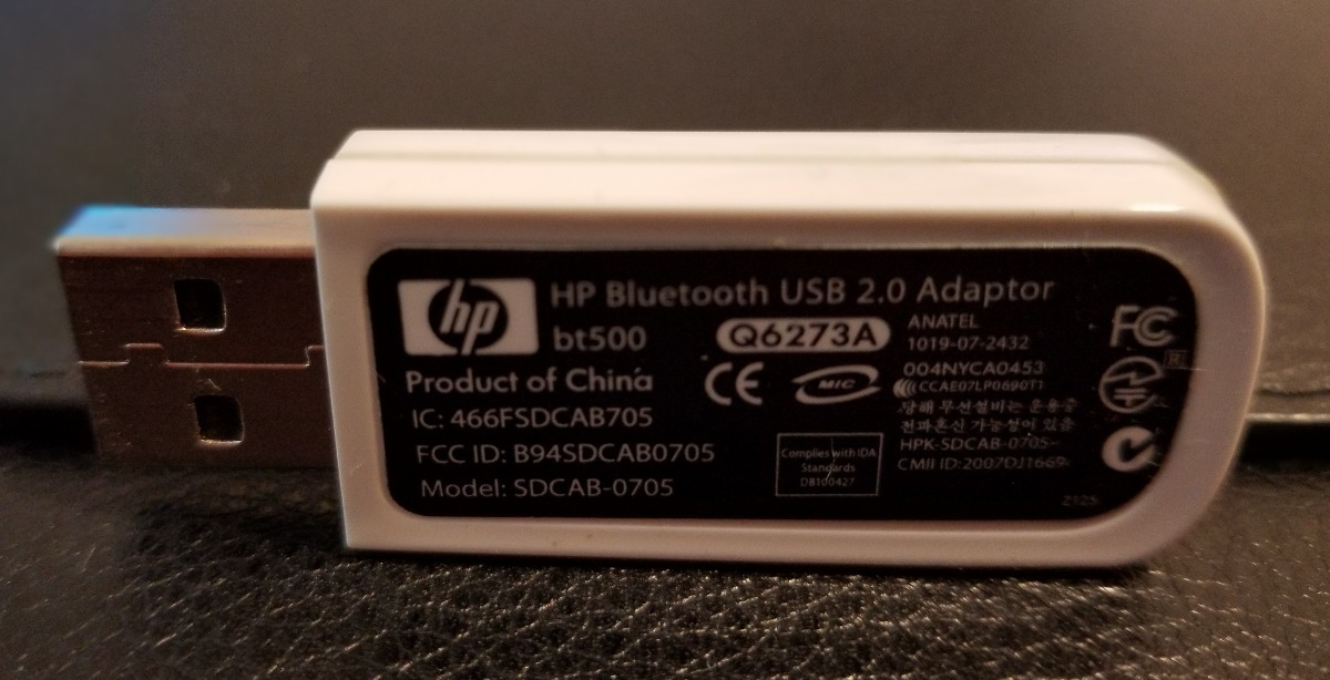 HP BLUETOOTH ADAPTER BT500 WINDOWS 10 DRIVERS