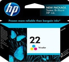 hp cartucho de tinta original nº 22 color d2333/j3680 (*)