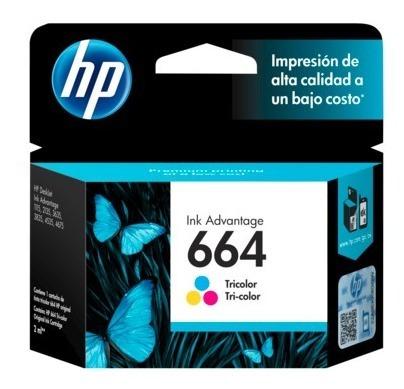 hp cartucho f6v28al color 100 pgs #664 - gadroves