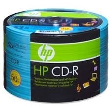 hp cd-r 52 x 700mb data / 80 min music 50 und
