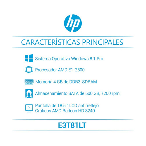 hp computador empresarial 205 g1 all-in-one e3t81lt