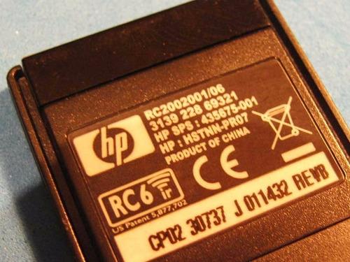 hp control remoto para laptop hp tx1000 tx2000 ó tx3000