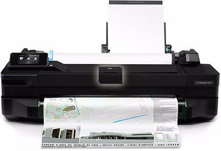 hp designjet t120 papel a1+ kit cartucho rellenable