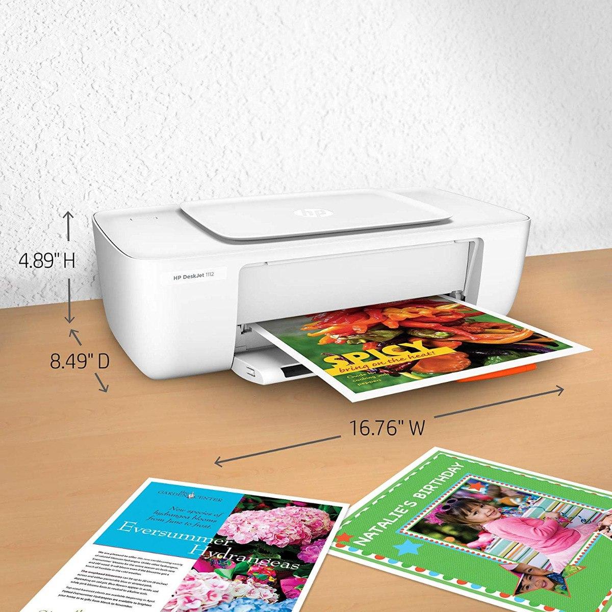 Hp Deskjet 1112 Impresora Fotogrfica Compacta 242500 En Printer Cargando Zoom