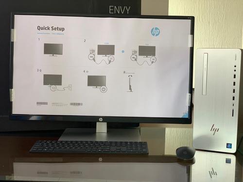 hp desktop envy tela 32 pol i7+8700 28 gb ram 28 gb 2tb