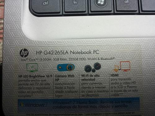 hp g42265la notebook pc para reparar
